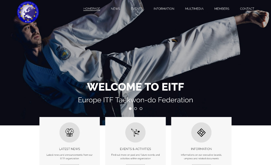 Europe ITF Taekwon-do Federation // E-scape web design Pula