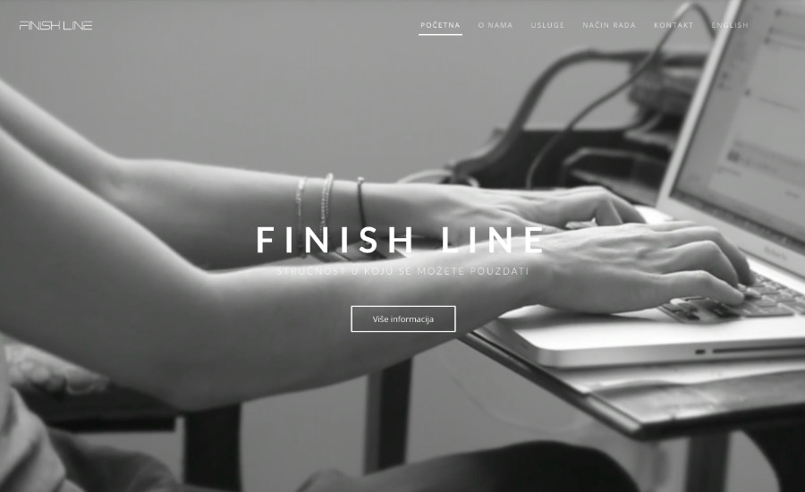 Finish line // E-scape web design Pula