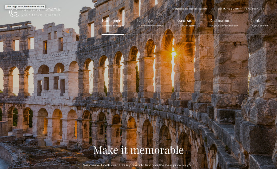 Golden Croatia // E-scape web design Pula